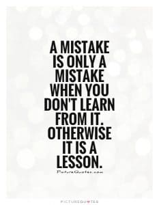 learn from mistake lesson
